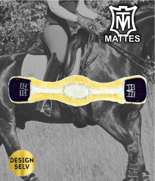 Mattes kort dressur gjord slim-line (læder)