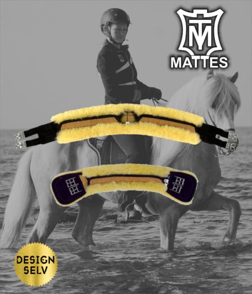 Mattes specialgjord til små heste sort, 55cm, leveringsklar.