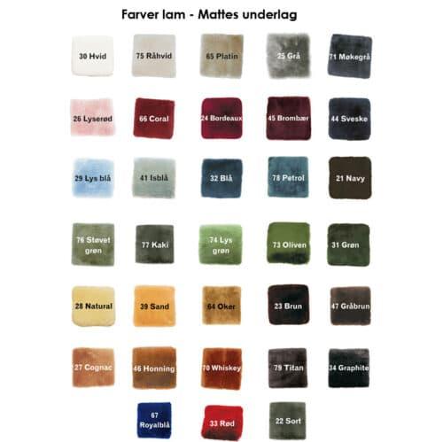 Mattes lammeskinds farver