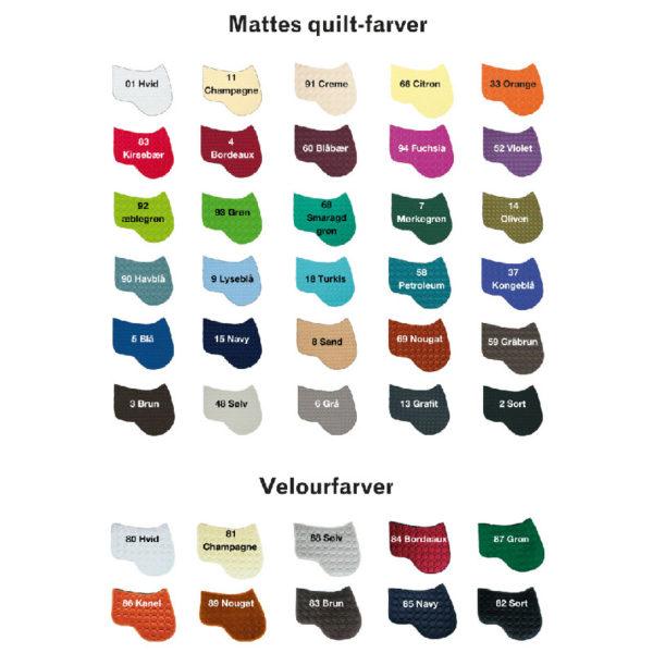 Mattes quilt farver