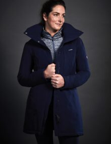 The WeatherBeeta Kyla Waterproof Jacket is a technical 100%  waterproof windproof and breathable jacket with sealed seams and lined inner quilting