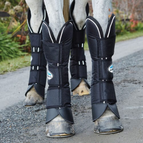 The WeatherBeeta Deluxe Travel Boots have a durable and strong 1200 Denier outer for protection with dense foam inner and nylon lining for comfort