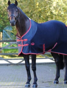 The versatile WeatherBeeta Fleece Cooler Standard Neck is ideal for travelling cooling or as an under rug It is a breathable and wickable fleece rug with anti-pill finish and nylon overlay at the shoulder to help prevent rubbing or stretching