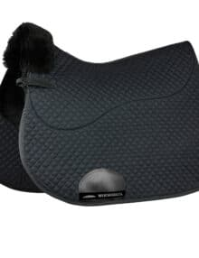 The WeatherBeeta Merino High Wither All Purpose Saddle Pad has a soft durable polycotton quilted outer with a high quality breathable Merino lining The Merino lining helps to wick moisture away from the horses back and relieve uneven saddle pressure