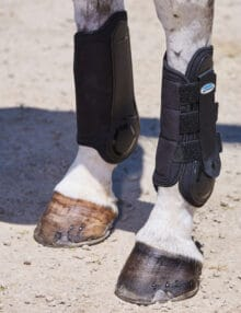 The WeatherBeeta Flexi Shell Hind Cross Country Boots are lightweight and tough with a flexible strike pad that contours to the horses leg creating the perfect fit