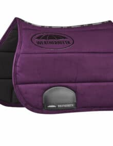The WeatherBeeta Elite Soft and durable suede outer with a wick-away lining to help keep your horse cool dry and comfortable It offers some great features including a breathable mesh spine for extra airflow grippy silicone logo to reduce saddle slipping and a PVC-covered girth patch for added durability