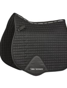 The durable WeatherBeeta Prime All Purpose Cotton Saddle Pad has a wick easy lining and breathable mesh spine to help keep your horse cool dry and comfortable