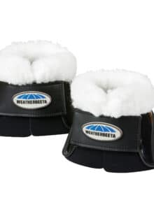 The WeatherBeeta Fleece Impact Bell Boots have a lightweight and durable outer The neoprene lining shapes to the horses hoof for maximum comfort and protection